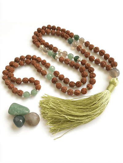 Malatopia Mala necklaces Green Anahata Mala Necklace