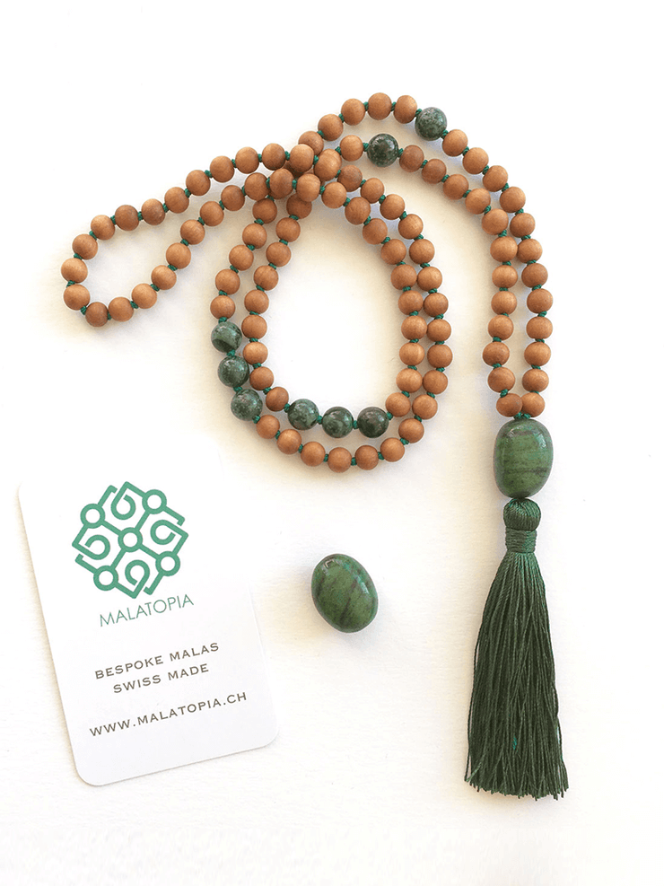 Malatopia Mala necklaces Green Balance & Stability Mala Necklace
