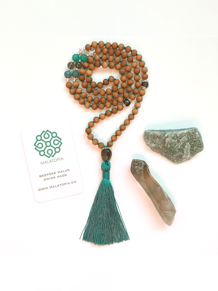 Malatopia Mala necklaces Green Gaia Mala Necklace