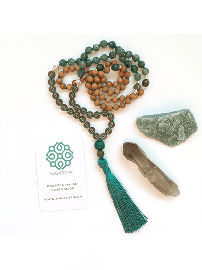 Malatopia Mala necklaces Green Parijaat Mala Necklace