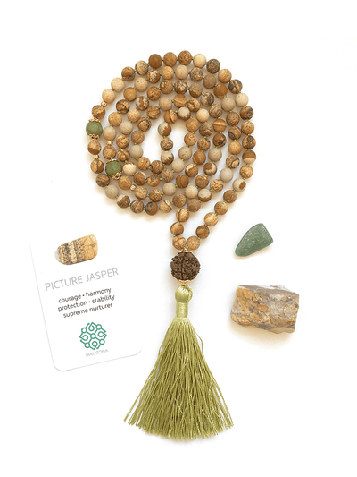 Malatopia Mala necklaces Green Urjayati Mala Necklace