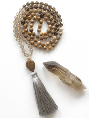 Malatopia Mala necklaces Grey Bhupada Mala Necklace