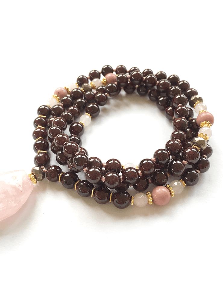 Malatopia Mala necklaces Pink Shakti Mala Necklace