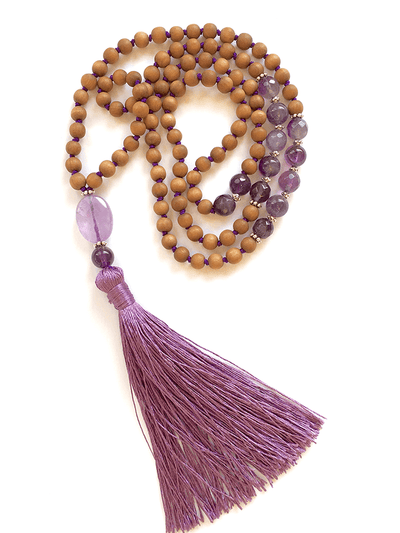 Malatopia Mala necklaces Purple Sahasrara Chakra Mala Necklace