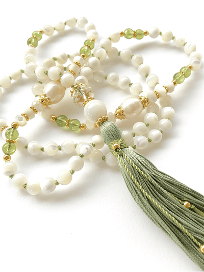 Malatopia Mala necklaces White Lakshmi Mala Necklace