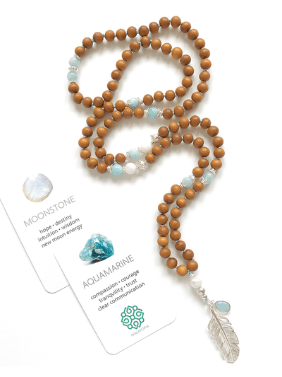 Malatopia Mala necklaces White Lunar Flow Mala Necklace