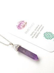 Malatopia Spiritual necklaces Amethyst Amulet Necklace
