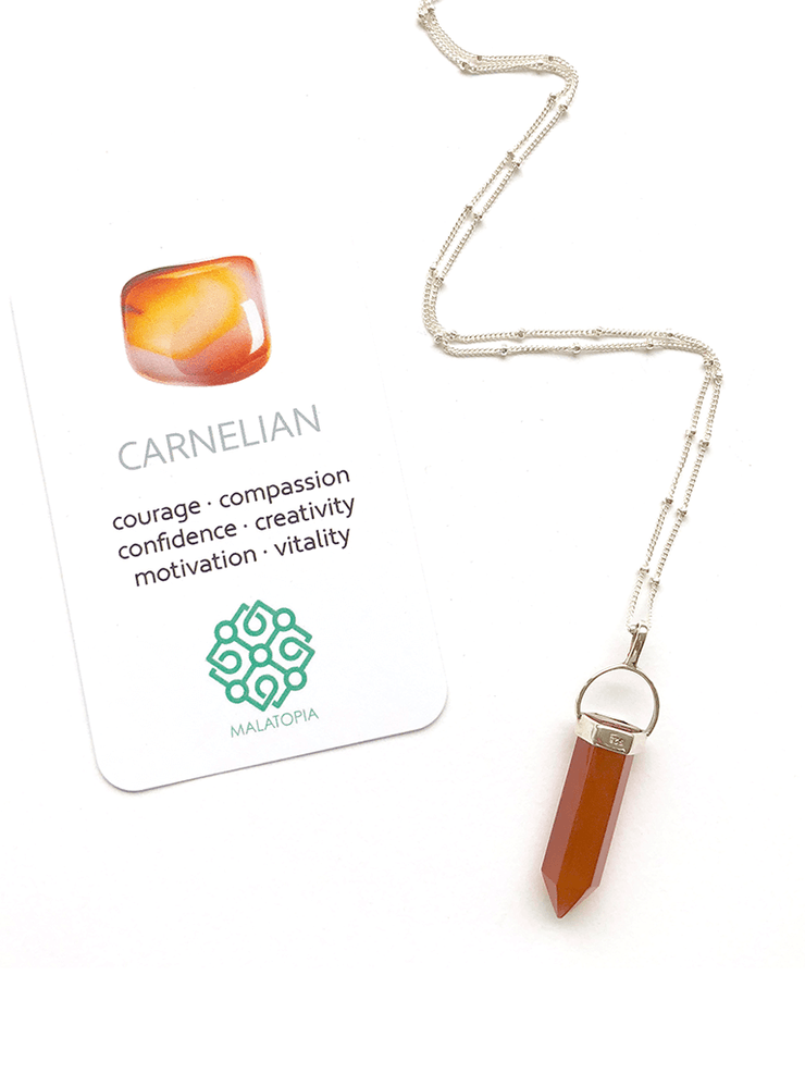 Malatopia Spiritual necklaces Carnelian Amulet Necklace