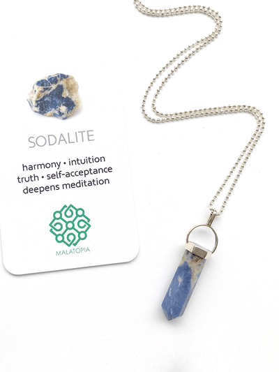 Malatopia Spiritual necklaces Sodalite Amulet Necklace