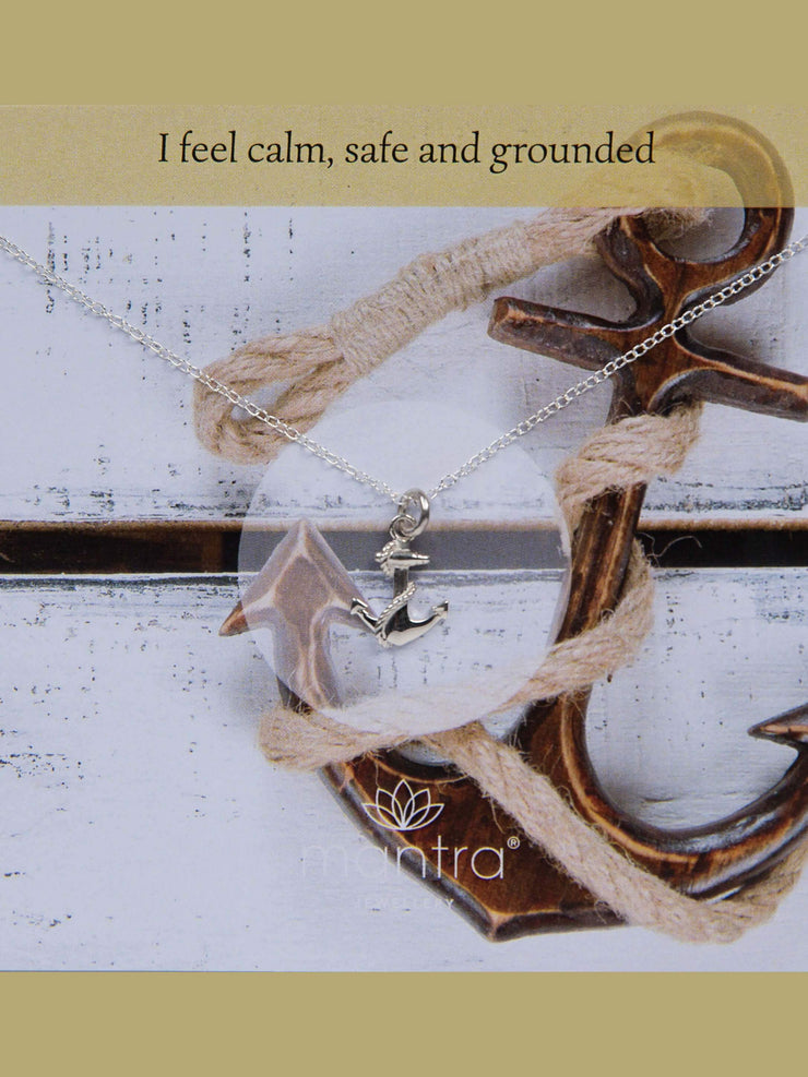 Mantra Jewellery Spiritual necklaces Anchor Necklace - Sterling Silver