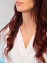 Breathe Bar Necklace - Mantra Jewellery - £55.00