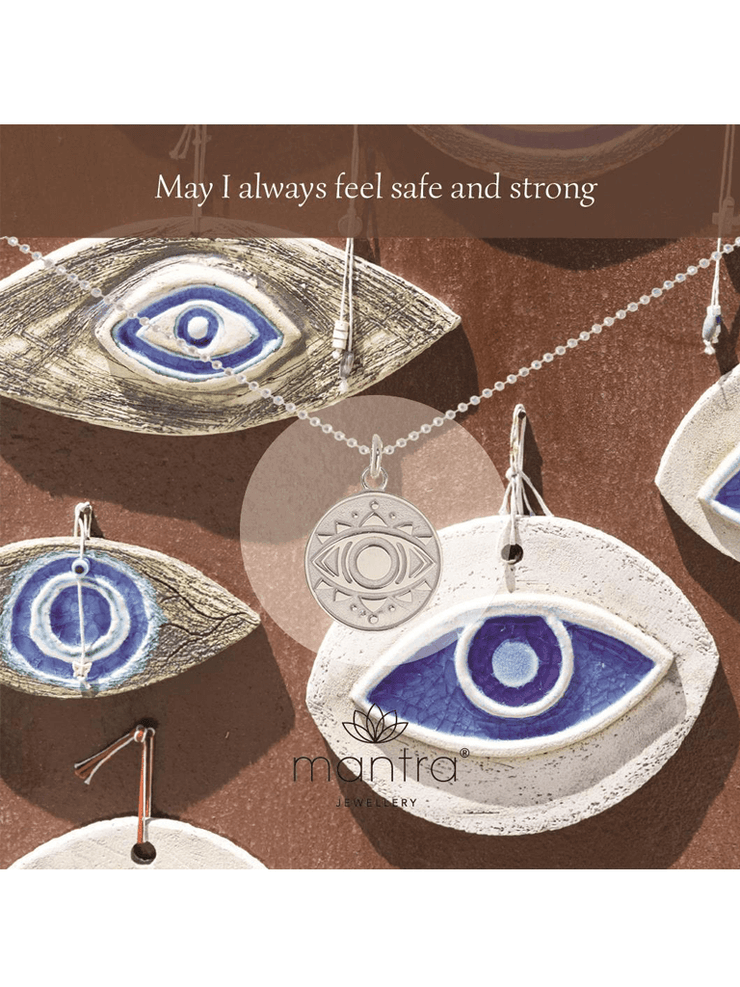 Mantra Jewellery Spiritual necklaces Evil Eye Necklace