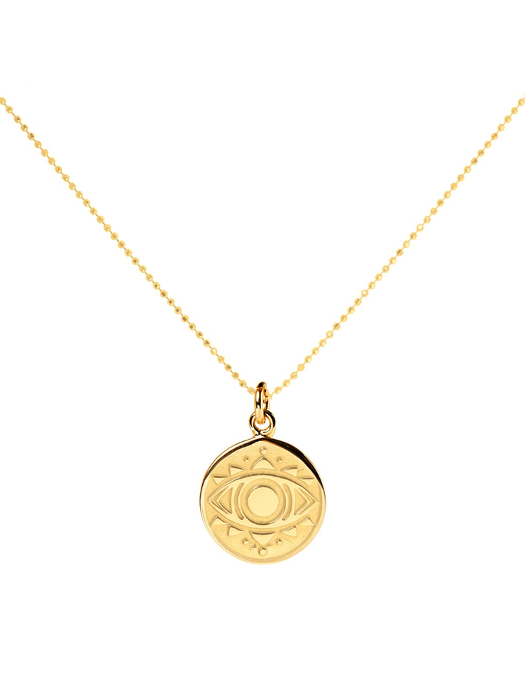 Mantra Jewellery Spiritual necklaces Gold Evil Eye Necklace