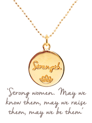 Mantra Jewellery Spiritual necklaces Gold Female Strength Necklace