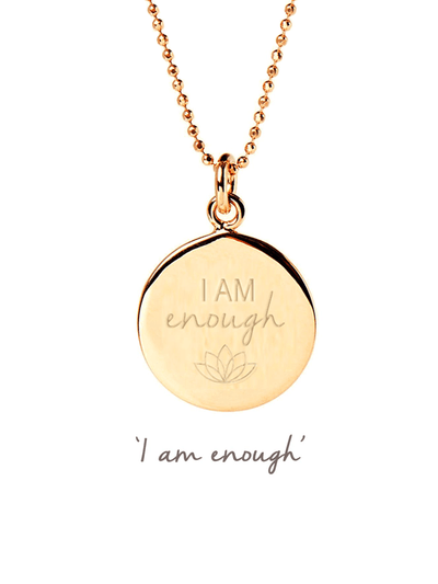 Mantra Jewellery Spiritual necklaces Gold I Am Enough Necklace