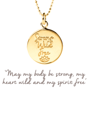 Mantra Jewellery Spiritual necklaces Gold Strong, Wild, Free Pendant