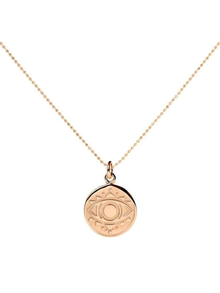 Mantra Jewellery Spiritual necklaces Rose Gold Evil Eye Necklace
