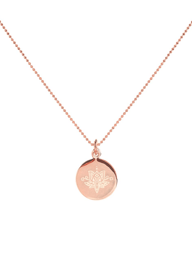 Lotus Flower Necklace - Mantra Jewellery - £55.00
