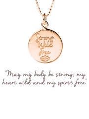 Mantra Jewellery Spiritual necklaces Rose Gold Strong, Wild, Free Pendant