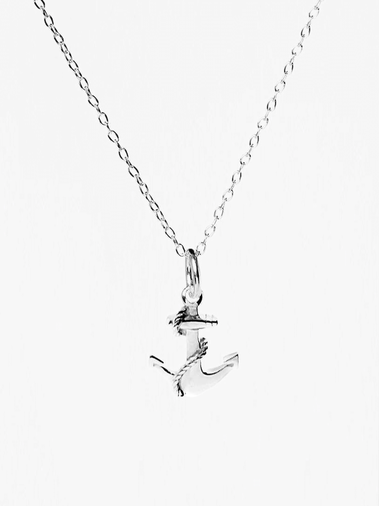 Mantra Jewellery Spiritual necklaces Silver Anchor Necklace - Sterling Silver