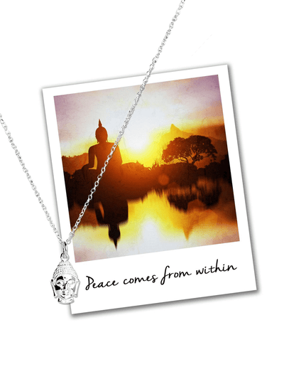 Mantra Jewellery Spiritual necklaces Silver Buddha Necklace