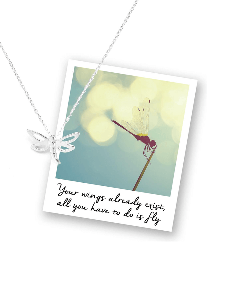 Mantra Jewellery Spiritual necklaces Silver Dragonfly Necklace