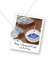 Mantra Jewellery Spiritual necklaces Silver Evil Eye Necklace