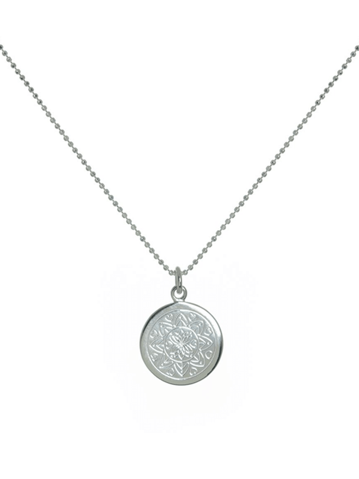 Mantra Jewellery Spiritual necklaces Silver Love Mandala Necklace