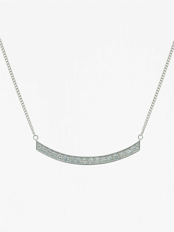 Mantra Jewellery Spiritual necklaces Silver Smile Necklace