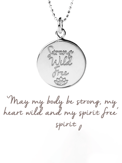 Mantra Jewellery Spiritual necklaces Silver Strong, Wild, Free Pendant