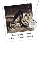 Mantra Jewellery Spiritual necklaces Strong, Wild, Free Pendant