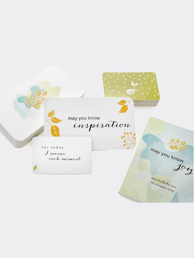 May You Know Joy Card Decks Joy & Seeds Of Intention Cards Bundle