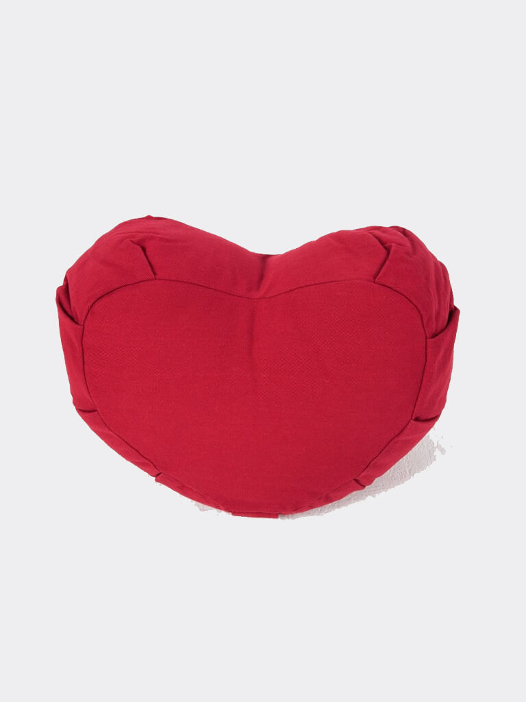 Organic Cotton Crescent Meditation Cushion - Red - Ekotex Yoga - £28.15