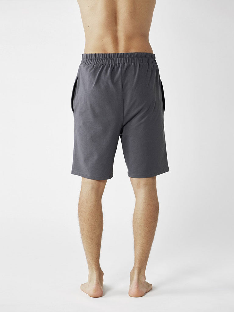 Organic Men's Yoga Shorts - Graphite Grey