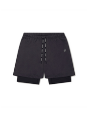 2-Dogs Lined Yoga Shorts - OHMME - £45.00