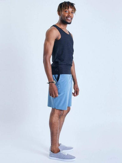 Eco Warrior I Yoga Shorts - Blue - OHMME - £43.00