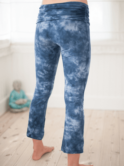 Half Moon Cropped Organic Yoga Leggings - Pawpaw Yoga Wear - £62.00