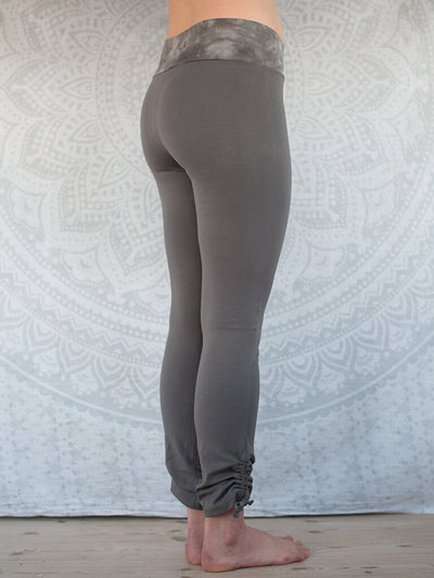 Pawpaw Yoga Wear Pants & Leggings Organic Dolphin Leggings - Warm Grey