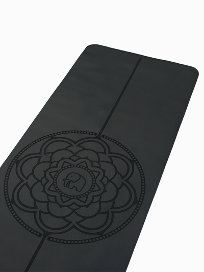 Phantai Yoga Mats Black Travel Mandala Yoga Mat