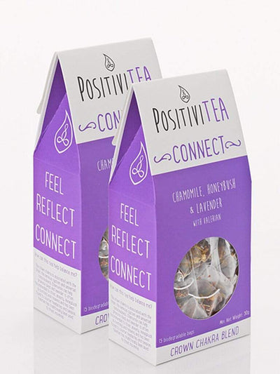 Positivitea Tea Crown Connect - Crown Chakra Blend Herbal Tea - Pack of 2
