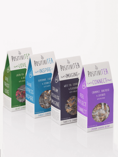 Positivitea Tea Upper Chakra Herbal Tea Gift Set