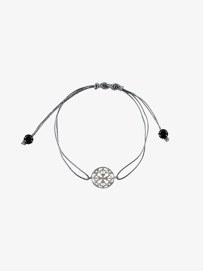Silatha Spiritual bracelets Grey Emotional Stability and Letting Go - Black Onyx Bracelet & Meditation App