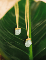Silatha Spiritual necklaces Blue *Pre Order* Rough Aquamarine Necklace & Meditation App