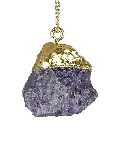 Silatha Spiritual necklaces Gold Inner Peace & Balance Amethyst Necklace & Meditation App