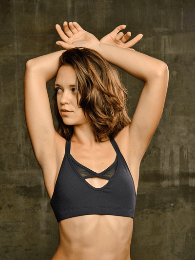 SoloSol Movement Bra Tops Legend Yoga Bra Top - Jet Black