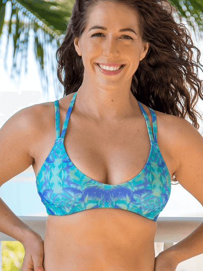 SoloSol Movement Bra Tops Vista Yoga Bra Top - Lush Print