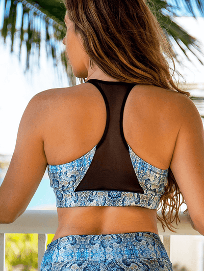 SoloSol Movement Bra Tops Voltage Yoga Bra Top - Mamba Print