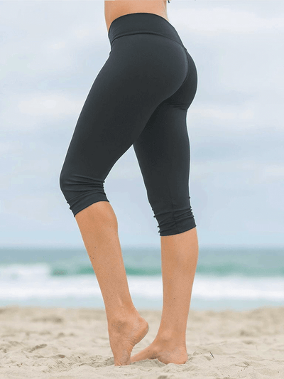 SoloSol Movement Capris Baja Capri Yoga Pants - Jet Black