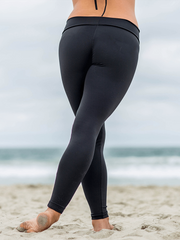 SoloSol Movement Pants & Leggings Baja Yoga Leggings - Jet Black
