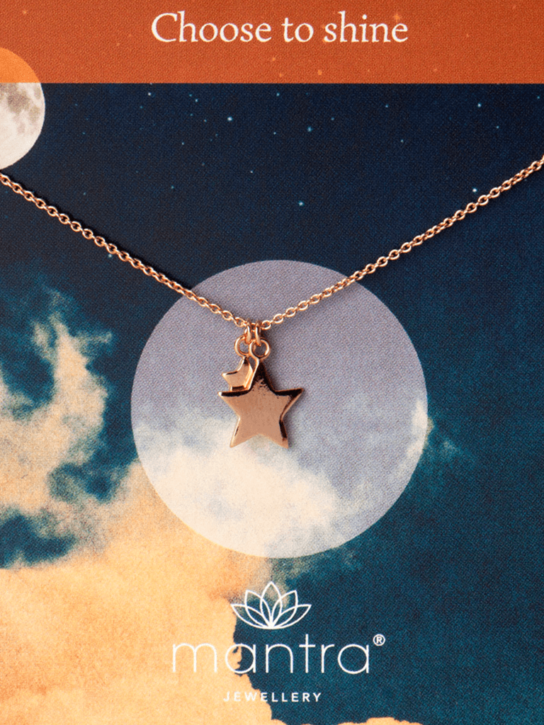 Stars Necklace - Rose Gold